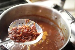Straining the Sauce